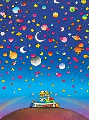 bajo un techo de estrellas y planetas