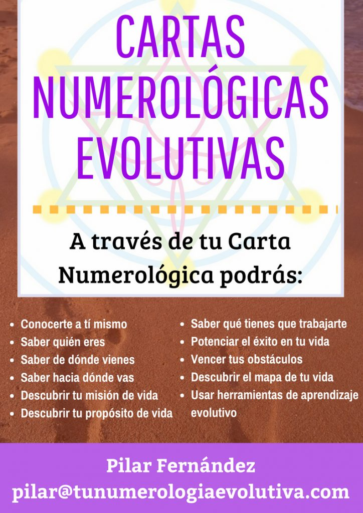 cartas numérologicas evolutivas