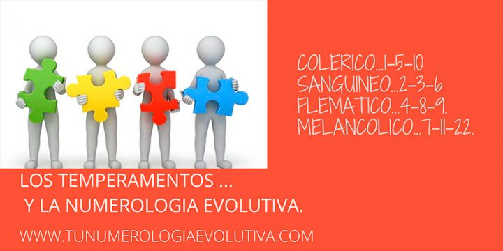 Relación de los temperamentos con la Numerología Evolutiva