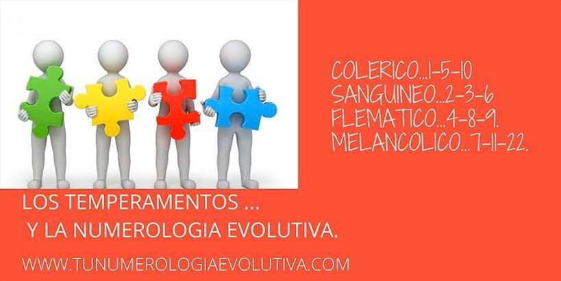 relación temperamento numerología evolutiva